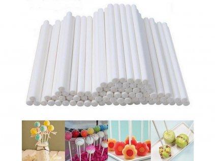 Paličky na cake pops 60 ks farebné 15 cm 1