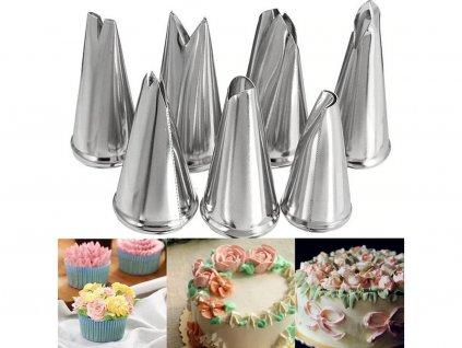 Cukrárske špičky sada 7 ks rôzne tvary 1