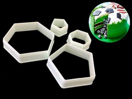Vykrajovačky na vytvorenie povrchu futbalovej lopty 4 ks 1