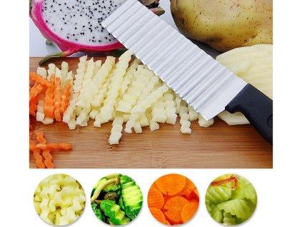 Nôž na HRANOLKY a zeleninu s vrúbkovanou čepeľou 2