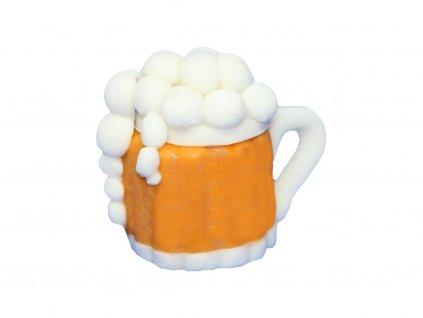 Pivový pohár KRÍGEĽ modelovaná ozdoba 1 ks