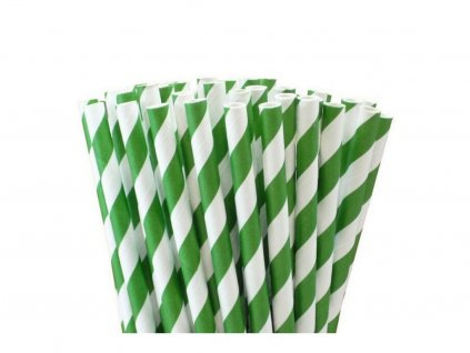 Ekologické papierové slamky 25 ks sivé pásiky 1