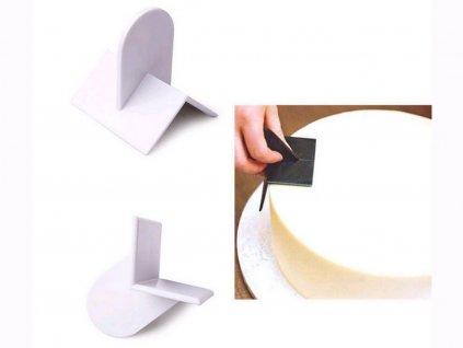 Pomôcka na tvarovanie (vyhladenie) hrán torty OSTRÁ HRANA