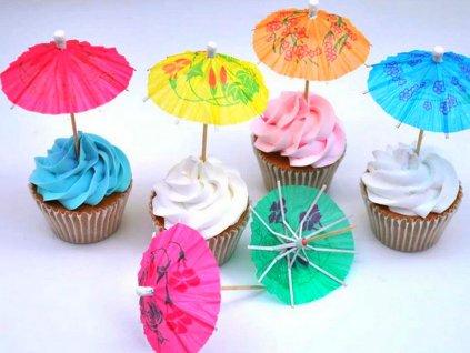 Dáždniky farebné zapichovátka 12 ks