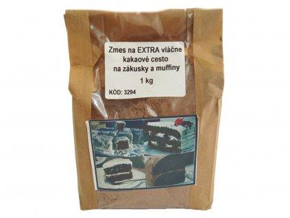 Zmes na EXTRA vláčne kakaové cesto na zákusky a muffiny 1 kg HoHo