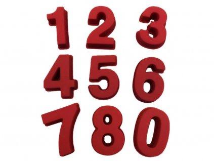 Čísla 0 9 silikónové formy 9 ks 1