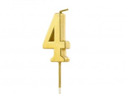 Zlatá sviečka číslo 4