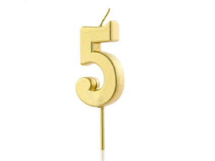 Zlatá sviečka číslo 5