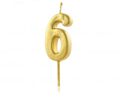 Zlatá sviečka číslo 6