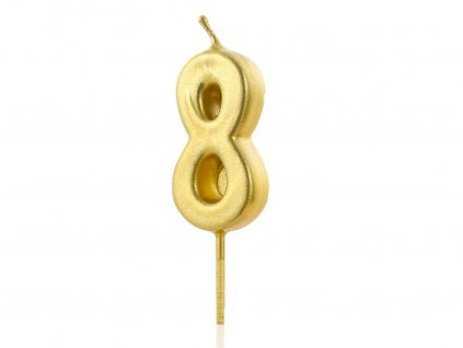 Zlatá sviečka číslo 8