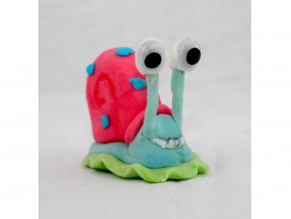 Slimák z rozprávky Sponge Bob modelovaná ozdoba