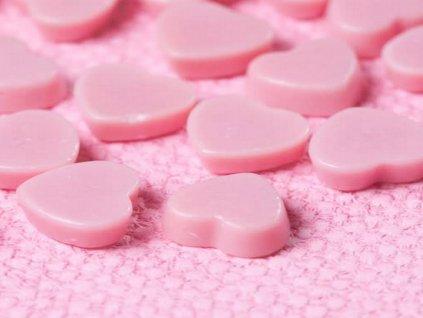 Čokoládová dekorácia ružové srdiečka