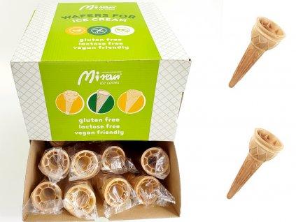 Bezlepkové kornútky na zmrzlinu 60 ks
