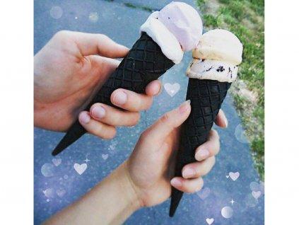 Čierne kornútky na zmrzlinu 25 ks HoHo 5