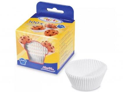 Papierové košíčky na MINI muffiny biele 3,5x2 cm 100 ks