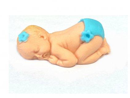 Bábätko z modelovacej hmoty - modrá plienka