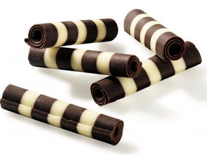 Čokoládová dekorácia pruhované paličky TWISTER