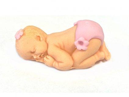 Bábätko z modelovacej hmoty - ružová plienka
