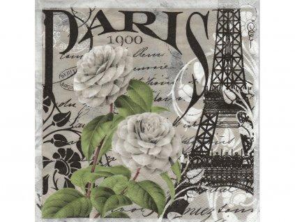 Paríž servítky 30x30cm 3.vrstvové 20 ks