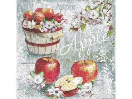 Jablká servítky 30x30cm 3.vrstvové 20 ks