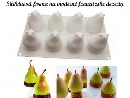 Hrušky silikónová forma na moderné francúzske dezerty