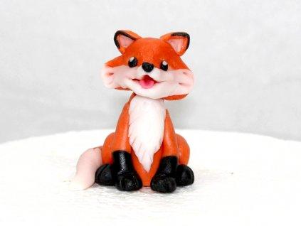 Líška jedlá figúrka na tortu do 7 cm