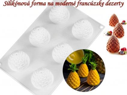 ANANÁS ŠIŠKA silikónová forma na moderné francúzske dezerty 1
