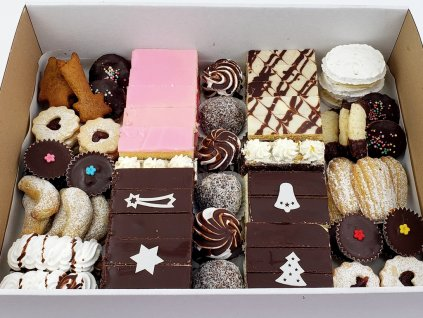 Krabica zákuskov na Vianoce č.1