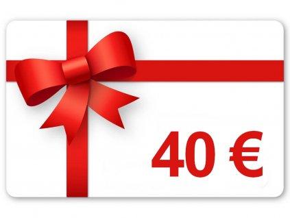 Darčekový poukaz v hodnote 40€