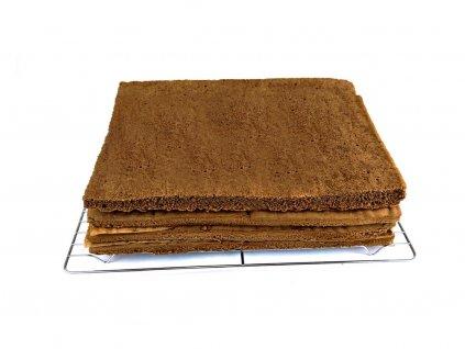 Domáce piškótové pláty na plnenie kakaové menšie 32 x 21 cm 4 kusy