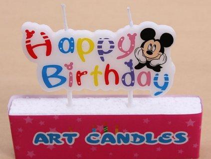 Sviečka Mickey Mouse HAPPY BIRTHDAY