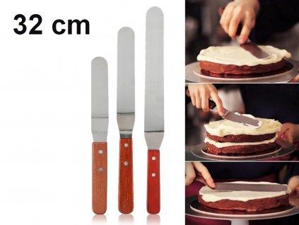Roztierací nôž cukrársky s ohnutou čepeľou 32 cm