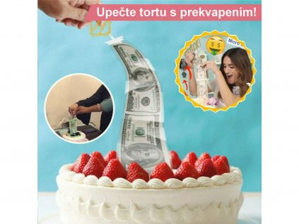 Krabička do torty na VYŤAHUJÚCE PENIAZE ALEBO FOTKY s priesvitnými obalmi 1