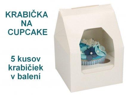 Krabička na cupcake 5 ks