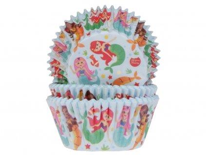 Papierové košíčky na muffiny 50 ks MORSKÉ PANNY