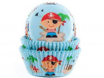 Papierové košíčky na muffiny 50 ks PIRÁT