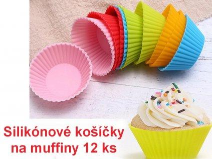 Silikónové košíčky na muffiny 12 ks 1
