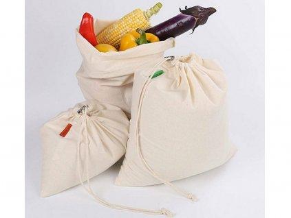 Ľanové vrecko na chlieb, pečivo a skladovanie potravín 1