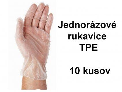 Jednorázové rukavice TPE