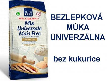 Bezlepková múka UNIVERZÁLNA bez kukurice Mix Universale Mais Free NUTRI FREE 1kg