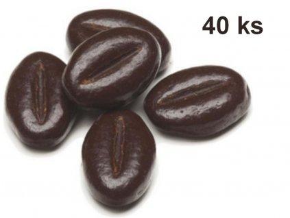Čokoládová dekorácia KÁVOVÉ ZRNKO 40 ks