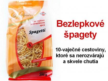 Bezlepkové špagety Barbara 200 g