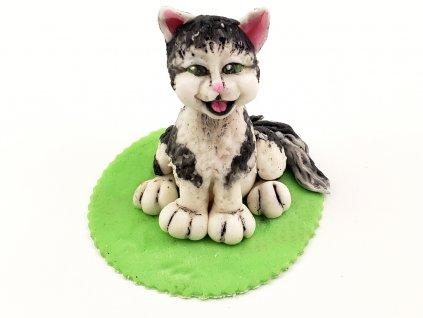 MAČKA modelovaná figúrka na tortu