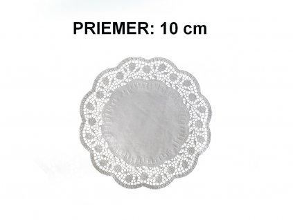 Ozdobný papier pod tortu okrúhly O 10 cm 50 ks