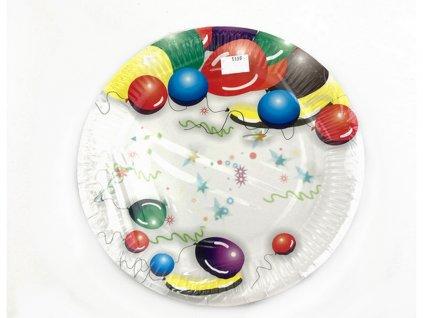 Papierový tanier BALÓNY 23 cm, 8 ks