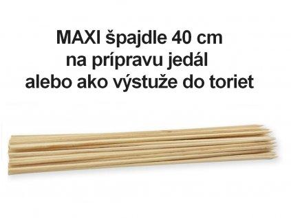 Bambusové špajdle MAXI výstuže do torty 40 cm 45 ks