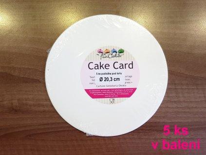 Podložka pod tortu 5 ks biela tenká O 20,3 cm FunCakes