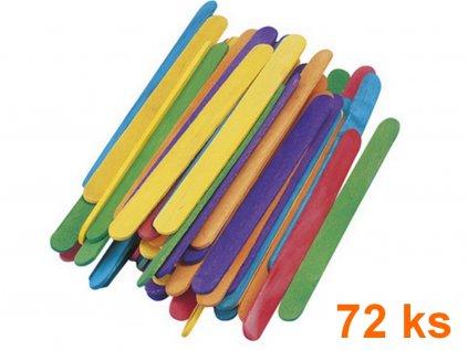 Drevené paličky na nanuky FAREBNÉ 11 cm, 72 ks