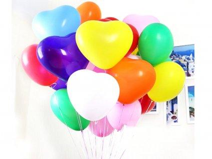 Balóny v tvare srdca 100 ks