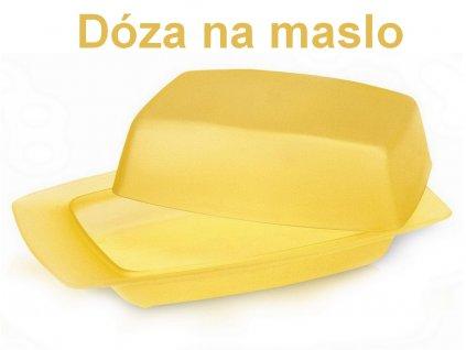 Dóza na maslo plastová
